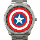 Captain America Shield Unisex Sport Metal Watch