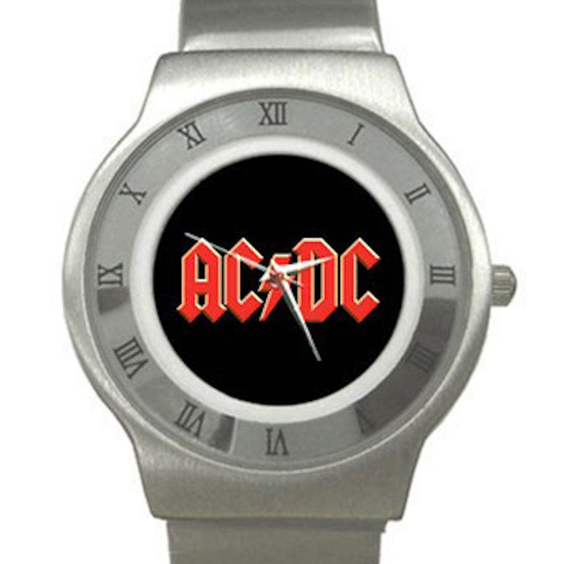 AC/DC Chrome Roman Dial Unisex Ultra Slim Watch