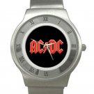 AC/DC Chrome Roman Dial Unisex Ultra Slim Watch