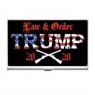 President Trump 2020 Law & Order High Quality Silver Plated Business Card/ Credit Cards Holder