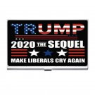 President Trump 2020 The Sequel High Quality Silver Plated Business Card/ Credit Cards Holder