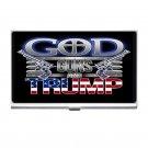 President Trump God, Guns & Trump Silver Plated Business Card/ Credit Cards Holder