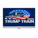 President Trump 2020 Trump Train Silver Plated Business Card/ Credit Cards Holder