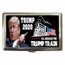President Trump 2020 Train Silver Chrome Cigarette Money/ Credit Card Case