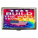 President Trump Build The Wall High Quality Silver Chrome Cigarette Money/ Credit Card Case