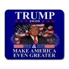 "Trump 2020 Make America Even Greater 9.25"" x 7.75 Large Rectangular Durable Heat-Resistant Mouse Pad"