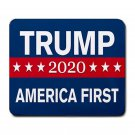 "President Trump 2020 US First-9.25"" x 7.75 Large Rectangular Durable Heat-Resistant Mouse Pad"