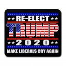 "Re-Elect President Trump 2020-9.25"" x 7.75 Large Rectangular Durable Heat-Resistant Mouse Pad"