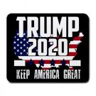 "Trump 2020 Keep America Great-9.25"" x 7.75 Large Rectangular Durable Heat-Resistant Mouse Pad"