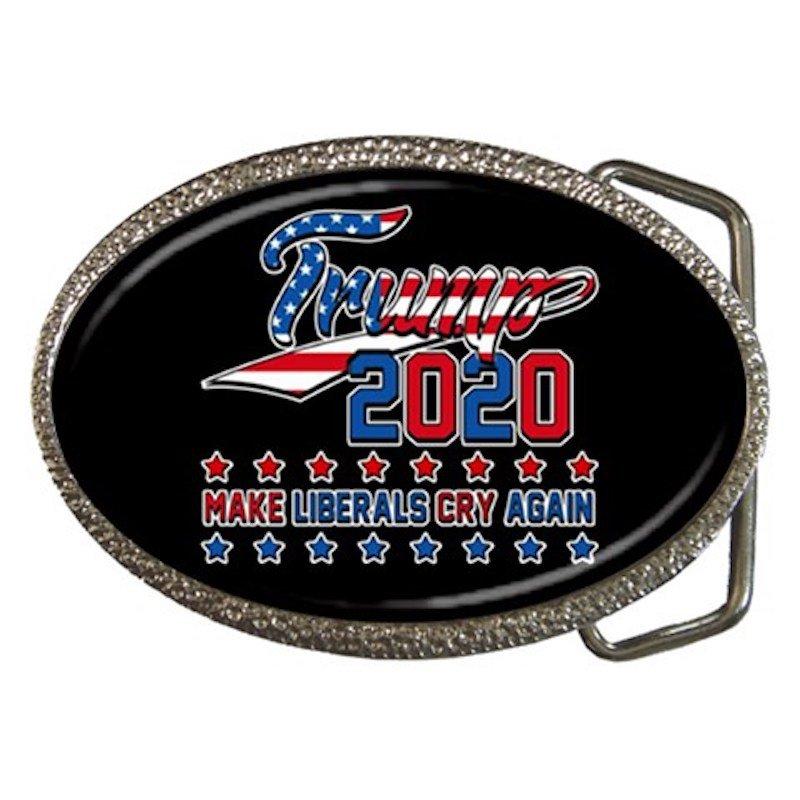 Trump 2020 Make Liberals Cry Again High Quality Metal Chrome Belt Buckle