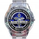 To My Son From Dad Analogue Stainless Steel Analogue Watch-Blue Face