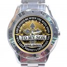 To My Son From Dad Analogue Stainless Steel Analogue Watch-Gold Face