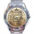 To My Son Never Forget That I Love You Analogue Stainless Steel Analogue Watch-Gold Face