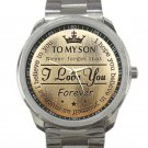 To My Son Never Forget That I Love You Forever Unisex Sport Metal Watch