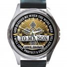 To My Son Love From Daddy Unisex Round Silver Metal Watch