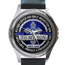 To My Son Love From Dad Unisex Round Silver Metal Watch