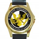 24 Series Jack Bauer CTU Logo Unisex Round Gold Metal Watch