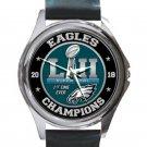 2018 Philadelphia Eagles First Time Champion Unisex Round Silver Metal Watch