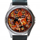 Lion King Movie Evil Scar Beautiful Stained Glass Design Unisex Round Silver Metal Watch
