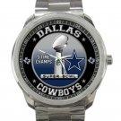 Dallas Cowboys 5 Times Super Bowl Champion Unisex Round Silver Metal Watch