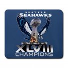 Seattle Seahawks XLVII Champions Large Rectangular Durable Heat-Resistant Mouse Pad