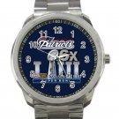 New England Patriots Super Bowl 6 Times Champions Unisex Sport Metal Watch