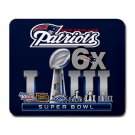 New England Patriots Super Bowl 6 Times Champions Large Rectangular Durable Heat-Resistant Mouse Pad