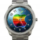 Apple Logo Unisex Sport Metal Watch