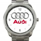 Audi Car Logo Unisex Sport Metal Watch