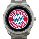 Bayern Munich F.C Logo Unisex Sport Metal Watch