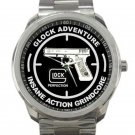 Glock Adventure Insane Grindcore Action Unisex Sport Metal Watch