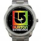 Burton Snowboards Logo Unisex Sport Metal Watch