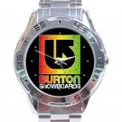 Burton Snowboards Logo Stainless Steel Analogue Watch