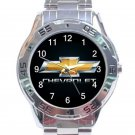 Chevrolet Car Logo Stainless Steel Analogue Watch