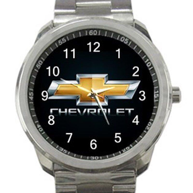 Chevrolet Car Logo Unisex Sport Metal Watch