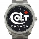 Colt Canada Firearms Gun Rifle Logo Unisex Sport Metal Watch