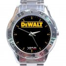 DeWalt Logo Stainless Steel Analogue Watch