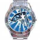 Famous Star & Straps Blue Face Stainless Steel Analogue Watch