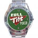 Full Tilt Poker Unisex Stainless Steel Analogue Watch