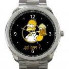 Homer Simpson Got Beer Unisex Sport Metal Watch