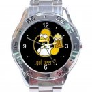 Homer Simpson Got Beer Unisex Stainless Steel Analogue Watch