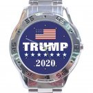 Trump 2020 With US Flag Unisex Stainless Steel Analogue Watch