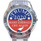 Trump 2020 Make Liberals Cry Again Unisex Stainless Steel Analogue Watch
