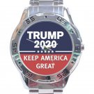 Trump 2020 Keep America Great Unisex Stainless Steel Analogue Watch