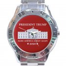 President Trump 2020 Keep America Great Again Unisex Stainless Steel Analogue Watch