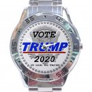 Vote Trump 2020 In God We Trust Unisex Stainless Steel Analogue Watch