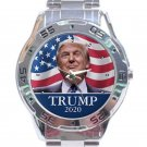 Trump 2020 With Trump Photo Unisex Stainless Steel Analogue Watch