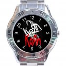 Korn Band Unique Logo Unisex Stainless Steel Analogue Watch
