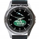 Jaguar Land Rover Unisex Round Silver Metal Watch