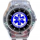 New US Emergency Medical Services Unisex Stainless Steel Analogue Watch